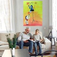 Hayat Büyük Yağlıboya Tuval Üzerine Ev Dekor El Sanatları / HD Baskı Duvar Sanatı Resimleri Özelleştirme kabul edilebilir 21070709