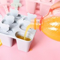 Homemade Ice Cube Mould Popsicle Mold Freezer Icecream Maker Pan Kitchen DIY Frozen Sucker Round Square Silicone Popsicle Molds