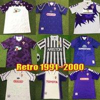 Maillots de football rétro Fiorentina 1991 1993 1995 1997 1999 2000 BATISTUTA RUI COSTA Vintage 91 92 93 94 95 96 97 98 99 00 Maillot de football Florence Camisas de Futebo