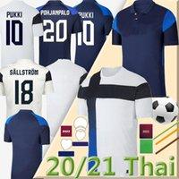 2021 فنلندا المنتخب الوطني لكرة القدم الفانيلة كأس الأوروبي Pukki Skrabb Raitala Jensen Suomi Home White Men Shirts Offe S-2XL