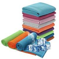 30 * 90cm glace serviette froide d'été refroidissement ensoleillé sport sport exercice mouchoir en cours d'exécution rapide sec doux respirant