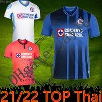 21 22 Cruz Azul Soccer Jerseys 2021 2022 Mexique Ligue Blue Blanc Chemises de football Liga MX Camisetas de Futbol Kit Jersey Goalkepeer