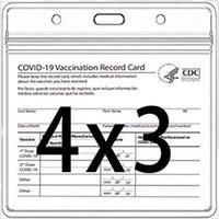 CDC Vacination Cartão Titular Arquivos de Imunização Recorde Vaculado Cartões Protetor Capa 3x4 Limpar Vinil Plástico Manga Água à prova d'água postal