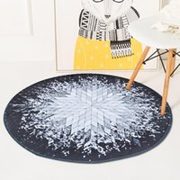 Carpets Geometric Soft Rays Round Carpet For Living Room Floor Door Chair Baby Play Mat Parlor Bedroom Non-Slip Area Rugs Large