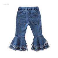 DHL Ins Baby Girls Flare Trousers Denim Tassels Jeans Leggings Tights Kids Designer Clothes Pant Fashion Children