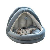 Питомники ручки домашних животных Cat House Dogs Bed Летние зима гнездо Маленький большой питомник с шариковыми игрушками