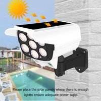 Lawn Lamps Solar Light Motion Sensor Security Dummy Camera Wireless Outdoor Flood IP65 Waterproof 77 LED Lamp 3 Mode For Home Garden