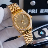 Women Mechanical Automatic Watch Ladies Watches Sapphire 35mm Gold Diamond Inlay Fashion Wristwatch Montre de Luxe High Quality
