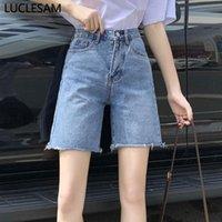 Mulheres jeans womens hetero 3 cor vintage joelho calças 2021 marca mãe alta cintura fina fit denim shorts preto s-xl