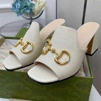 Sandal Designer Summer Shoes Shoes High Heeld ShoesHoe Fashion Square Head Dew Toe Multi Funzione Donne Uscire da una parola pantofole