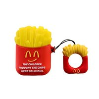 Super Headset Accessories cute 3D Burger French fries Silicone Case For Apple Airpods 1 2 Pro Bluetooth Earphone Protective Cover Bag