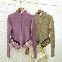 Alternative gestrickte Rundnach Pullover Pullover für Frau Herbst Winter Designer Luxus Jumper Jersey KPOP Strickwaren Indie Kleidung Frauen SWE