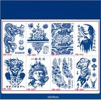 Jus d'autocollant temporaire de tatouage temporaire étanche durable Bouddhisme Sanskrit Lotus Totem Flash Tatoo Scorpion Cody Art faux tatouage
