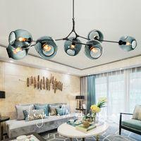 E27 Modern Glass Pendant Lamp Nordic Dining Room Kitchen Light Designer Hanging Lamps Avize Lustre Lighting