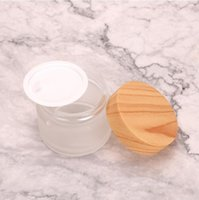 Sample Glass Jar 5ml 5g Wood Grain Plastic Lid Box container OEM case clear dab tool for wax Cream oil cosmetic