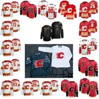 Calgary Flames Hockey Jerseys 11 Mikael Backlund Jersey 93 Sam Bennett 29 Dillon Dube 28 Elias Lindholm 23 Sean Monahan 36 Rinaldo 81 Dominik Simon Customize Stitched