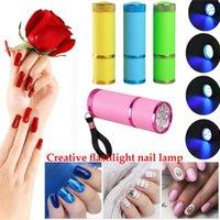 Nail Dryers LED Dryer Lamp Mini UV Flash Penlight Torch Portable Gel Art Tools Drying Manicure Flashlights