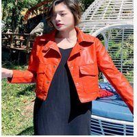 Fall 2021 Korean Version Loose Fashion Temperament Versatile Leather Jacket Short Motorcycle Wear Women Women's Jackets