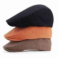 Beanies Spring Autumn Women Men Cap Hats Berets British Western Style Breathable Advanced Flat Hat Classic Vintage Beret Caps Wholesale