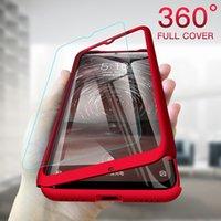 360 Casas de telefone de cobertura completa Protetora de pc dura com vidro temperado para iphone 12 11 pro máximo xr x 8 7 6 mais samsung galaxy nota 5 9 10 s6 s7 s8 s8 s10 borda lite
