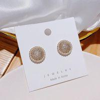 Pearl Earrings with Silver Needles Women's Stud Earring Engagement Wedding Jewelry Ear Studs