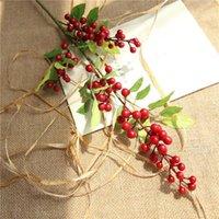 ПК искусственный цветок черничный завод бутон поддельных растений шелковый декор венок ягоды для свадьбы дома украшения вечеринки декоративные цветы венки