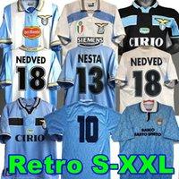 Lazio Retro Futebol Jerseys 1989 1990 1991 1992 1999 2000 2001 Nedved SimeOne Salas Gascoigne Home Away Camisa de Futebol Veron Crespo Nesta 89 90 91 92 93 98 99 00 100