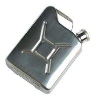 Hip Flasks 5oz Portable Stainless Steel Flask Fuel Tank Style Whisky Liquor Leisure Mini Pocket Bottle Gift Art Decor