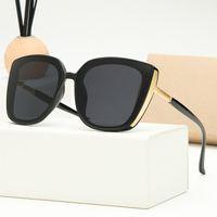New Classic Retro Designer Sunglasses Mens Femmes Trend Tendance 9286 Sun Verre Anti-Glare UV400 Casual Gold Cadre Lunettes 7 Couleurs Options