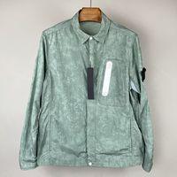 디자이너 여름 금속 나일론 Co 브랜딩 배지 남자 재킷 연인을위한 간단한 썬 스크린 옷 야외 캐주얼 지퍼 셔츠 패션 코트