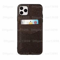 Fashion Designer Brown Flower Phone Cases Per iPhone 13 12 11 Pro X XR XS Max 7 8 Porta carte in pelle Pocket Cellulare Cellulare Pocket Forsamsung Galaxy S21 S20 S10 Nota20 10