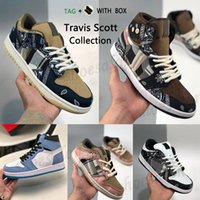 2021 Sean Cliver SB Dunk Shoes Travis Scotts Jackboys Reagir Cactus Jack 270 1 1S Universidade Azul Dia dos Namorados Festa Sports Jogg G3uo #