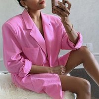 Women Cool Pink Blazer Summer Fashion Ladies Sexy Thin Cotton Jackets Elegant Female Suits Casual Girls Cute Top Women's & Blazers