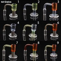 Colored Regula 20mm Spinning Banger with 2 Terp Pearls & 1 Glass Carb Cap 10mm 14mm 19mm Female Male Joint for Glass Bongs Water Pipes Dab Rigs