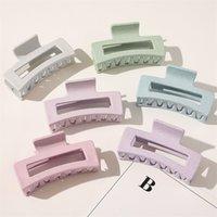 Einfache frauen haarklammern barrettes große geometrische haarnadelkrebs fest farbe haare klaue clip für zubehör 10 w2