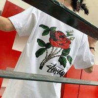 """Europäische und amerikanische Mode-Männer-T-Shirt """"Stussy"""" Co Markened Longwang Damen Top Qualität Trend Kurzarm Kurzarm"""