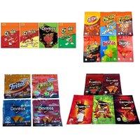 2021 Boş Doritos Cheetos Doweedos Maylar Seçilebilir Yiyecek Çanta 500 mg Peynirli Çip Gummi Solucan Paketleme Çantası