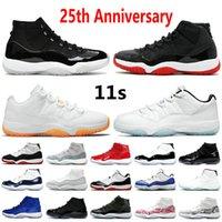2021TOP Jumpman 11 Chaussures de basketball 11S 25ème anniversaire 23 Concord 45 Orange Trance Citrus Brillant Argent métallisé Gris Gris Blanc Bred GS Heiress Sports Sneakers