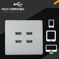 Port USB Wall Charger Plate Coupler Outlet Power Socket Plug Panel DC 5V Mounted For Home Office El Smart Plugs