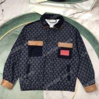 21ss رجل النساء مصممين جاكيتات الدينيم الجاكار الجلود إلكتروني الملابس الشارع الشهير معاطف قميص مقنعين الرجال الملابس القطن الأسود الأبيض البحرية الأزرق xinxin