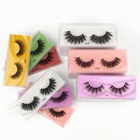 10 Pairs Wholesale Faux Mink Eyelashes 3D Lashes Natural Eyelash Messy Fake Eye Extension Makeup In Bulk