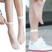 5 pairs of white lace socks ladies fishnet socks short style popular fashion art nylon mesh thin fishnet socks ladies summer 2021