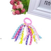 Party Favore Girl Ponytail Ponytail Ricci nastri Streamer Corker Capelli Bobbles Bows Flower Elastic School Boosters Headwear NHE5652