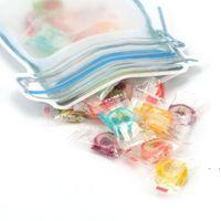 새로운 식품 저장 가방 메이슨 항아리 모양 재사용 가능한 간식 쿠키 조미료 지퍼 인감 누설 방지 주최자 플라스틱 여행 EWE7277