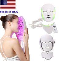 7 colores LED Terapia Facial Terapia Face Máquina de Belleza Rejuvenecimiento de la piel con Microcurrent para el dispositivo de blanqueamiento