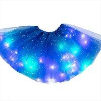LED glühende leichte Kinder Mädchen Frauen Rock Prinzessin Tutu Kinder Tuch Hochzeit Party Tanzen Miniskirt Kostüm Cosplay Kleidung