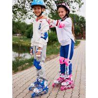 Rolline роликовые коньки мигающие дети ребенка 8 - 14 лет РАЗМЕР РЕГУЛИРУЮЩИМЫЕ ЗАЩИТЫ ДЕВОЖНЫЕ ДЕВОЧНЫЕ РАБОТЫ: BOSKS 4 Wheels 1 ряд