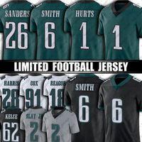 "1 jalen dói 6 Devona Smith 26 milhas Sanders Jersey Mailata Brandon Graham Fletcher Cox Football jerseys Filadélfia ""Eagles"" 2 Slay Jr Dawkins Kelce Reagor"