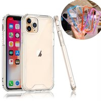 Military Grade Anti-Drop Cases Transparent Acrylic TPU Shockproof Cover For iPhone 12 11 Pro XR XS Max X 8 SE2 Samsung S8 S9 S10 Plus S20 FE S21 Ultra A21S