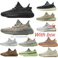 Kutu 2021 Erkekler Kadınlar Statik Yansıtıcı V2 Kanye Run Ayakkabı Trainer Tereyağı Susam Beluga 2.0 Zebra Spor Sneakers Boyutu 36-46